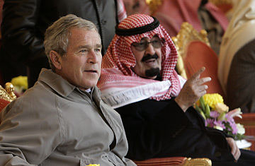 George W. Bush con Shafig Bin Laden