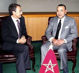 Mohammed VI con Zapatero!!