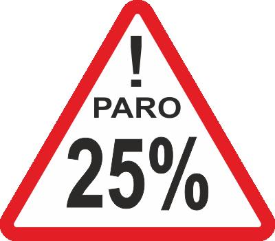 Peligro 25% de desempleo